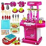 1set tragbare elektronische Kinder Kinder Küche Kochen Mädchen Spielzeug Cooker Spielset