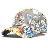 Vinteen Gorra de béisbol Traje Folk-custom resorte y el verano los hombres y las mujeres floral de tela de Corea versión Tide impresión Protector solar sombra de sol de las mujeres Caps gorra de plato