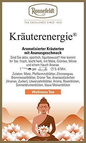 Ronnefeldt Kräuterenergie, Kräutertee mit Ananasgeschmack, belebend / leicht herb, 50 g