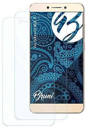 Bruni Schutzfolie kompatibel mit LeEco Le Max 2 Folie, glasklare Bildschirmschutzfolie (2X)