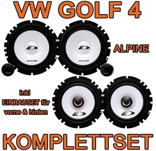 VW Golf 4 - Alpine SXE Komplettset für vorne & hinten