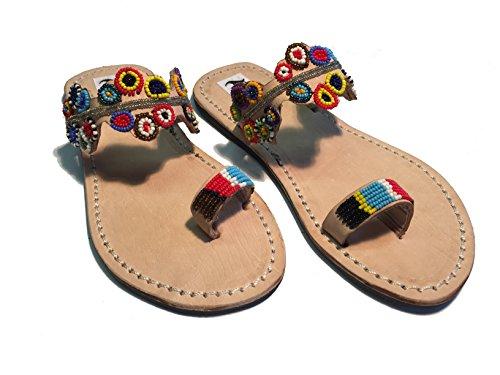SISI mbili Sandali Originali Kenya Modello Rainbow (40)