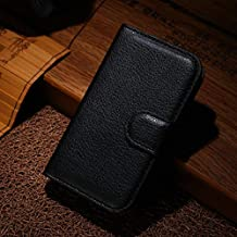 Flip Cases - Wallet Flip Leather Case for for Samsung Galaxy Young 2 Duos G130 G130H 3.5-inch phone Leather back Cover case with Stand Etui> (LZ BK SAM G130)
