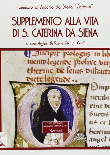 Supplemento alla vita di Santa Caterina da Siena