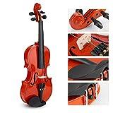 Kit para principiantes de violín de tamaño 1/8 con arco + estuche liviano + resina para niños principiantes, estudiantes de violín y entusiastas