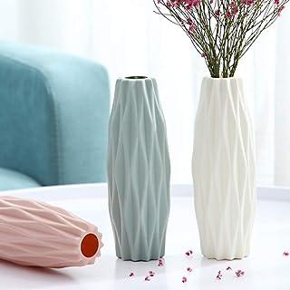 3 pièces Vases à Fleurs Décoratif Vase Floral Moderne en Plastique Durable et Moderne pour La Décoration Salon Centres de ...