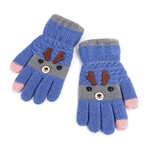Afinder Kinder Fingerhandschuhe Mädchen Jungen Strickhandschuhe Touchscreen Handschuhe Fäustlinge Handschuhe Strick Winterhandschuhe dicken warmen Touch Gloves für Winter Sport Outdoor
