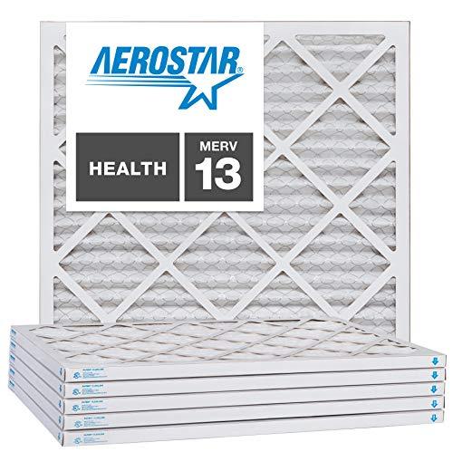 Aerostar 16x16x1 MERV 13, Pleated Air Filter,...