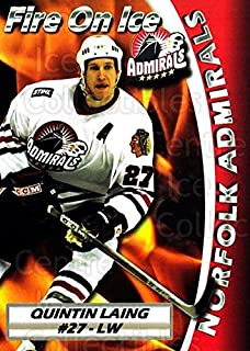 (CI) Quintin Laing Hockey Card 2005-06 Norfolk Admirals 19 Quintin Laing