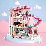 Yifuty Puppenhaus Modell Villa Spielzeug Mädchen 4-6 Jahre altes kleines Mädchen Prinzessin Haus...