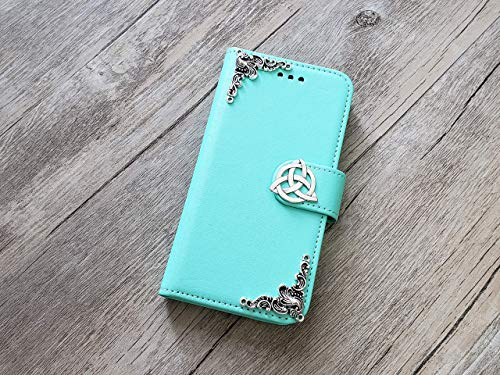 Trinity Celtic Knot Removable Wallet Handmade Phone Wallet Case Cover for iPhone 8 7 6 6s X Xs Xr 11 Pro Max Samsung Galaxy S8 S9 S10 Plus Note 8 9 10 Plus Mn0958