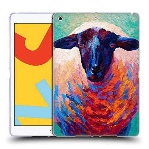 Head Hülle Designs Offizielle Marion Rose Suffolk Mutterschaf 4 Schaf Soft Gel Huelle kompatibel mit iPad 10.2 (2019)