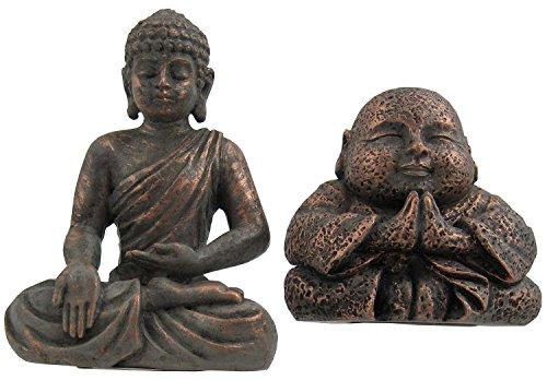 Grasslands Road Mini Buddha Figurines - Set of 2