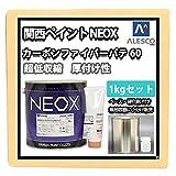 関西ペイント NEOX60 カーボンファイバーパテ 1kgセット/標準 板金/補修/ウレタン塗料