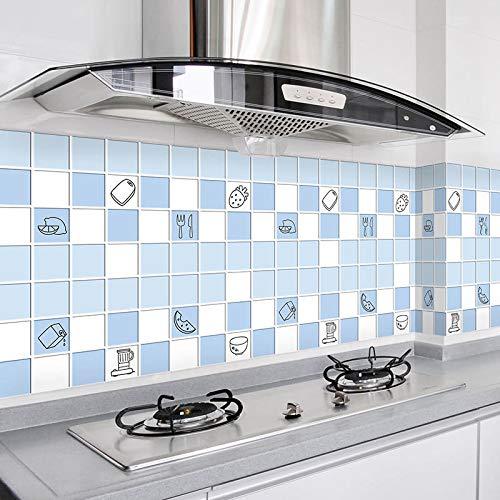 LZYMLG Papel Pintado de celosía de Azulejos de imitación Tridimensional Autoadhesivo 3D Pegatina de Cocina Papel Pintado Impermeable y a Prueba de Aceite para baño II 60CM*5M