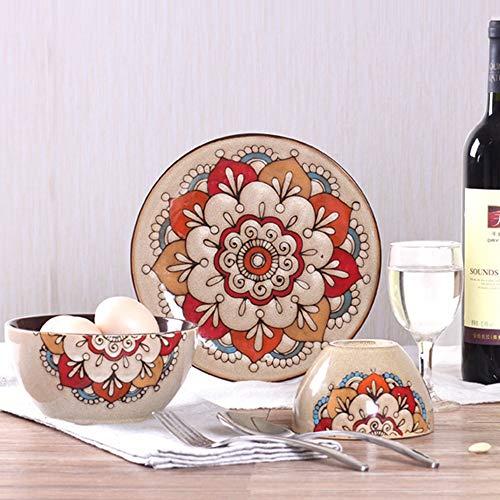 Vajilla,juego de porcelana pintada a mano,bandeja creativa,imagen de cerámica personalizada,juego de tres piezas