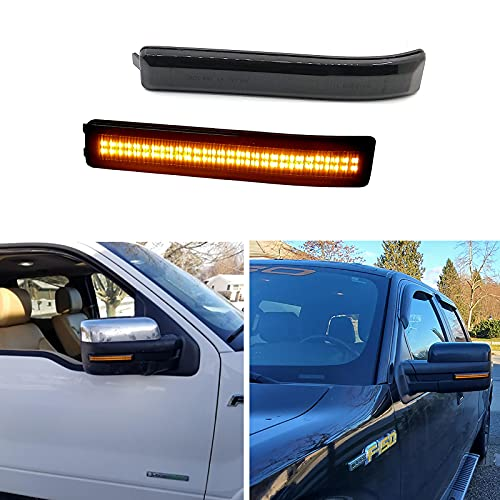 Xinctai Sequential Amber LED Side Mirror Marker Lights Turn Signal Lamp...