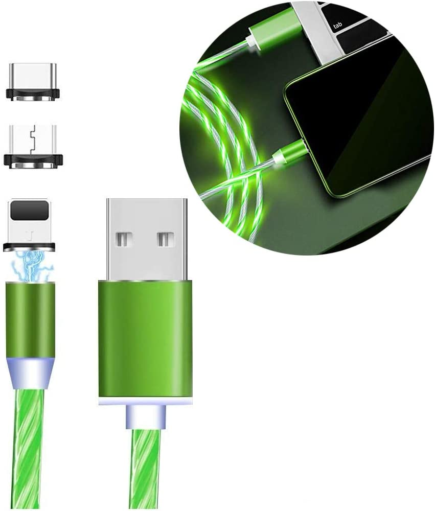 Fleur De Lis New Orleans Flower Multi Charging Cable 4Ft 3 in 1 Multiple USB Charging Cord Type C//Micro USB Connector