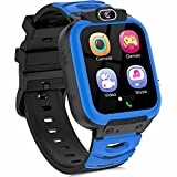 Kids Smart Watch for Boys Girls, Cell Phone Watch for Kids Educational, HD Touch Screen Games Smartwatch Children Electronic Learning Toys Birthday Gifts for 3-14 Years Students(Blue)