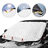 カーフロントカバー、車用サンシェード フロントガラス 日よけ 99%UVカット 遮光 断熱 サンシェード
