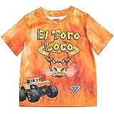 Monster Jam Trucks El Toro Loco Big Boys Graphic T-Shirt Orange 10-12