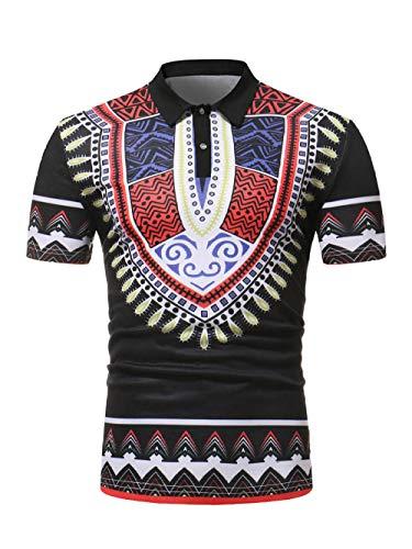 IYFBXl Casual bedrukte basis met korte mouwen POLO shirt ZT-PL01