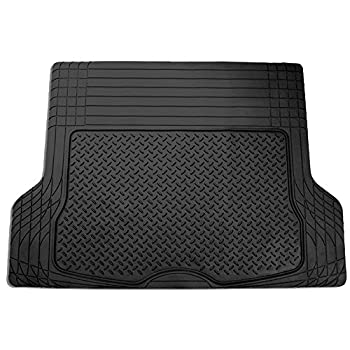 FH Group F16400BLACK Black All Season Protection Cargo Mat/Trunk Liner  Trimmable  Size 55.5  x 42.5  Large