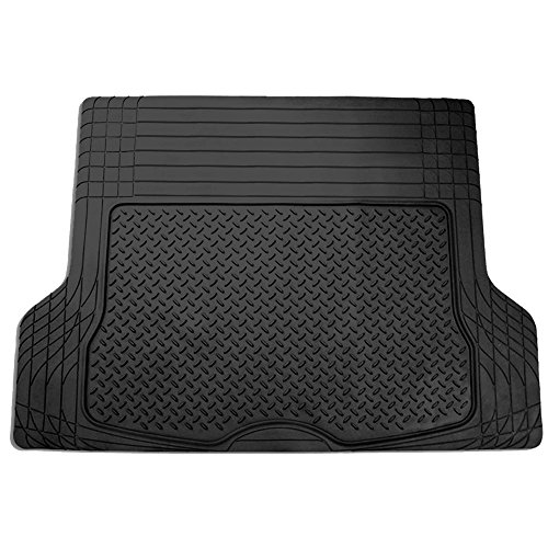 FH Group F16400BLACK Black All Season Protection Cargo Mat/Trunk Liner (Trimmable) Size 55.5' x 42.5' Large