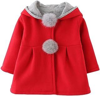 Weixinbuy Baby Girls' Rabbit Ear Coat Winter Outwear Overcoat Jacket