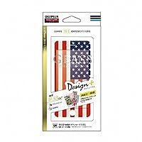 LEPLUS iPhone7 4.7インチ ガラスフィルム 「GLASS PREMIUM FILM(グラス プレミアムフィルム)」 全画面保護 Design+(デザインプラス) アメリカ国旗風 0.33mm