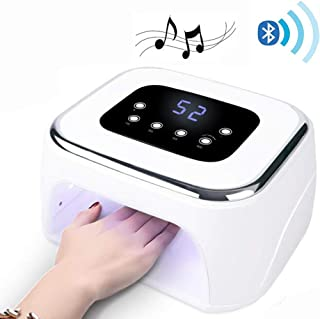 FBKPHSS Bluetooth Lámpara Secador de Uñas, Lamparas UV para Uñas de Gel con Sensor Automático y Pantalla LCD para Manicura y Pedicura Manicura Shellac y en Gel