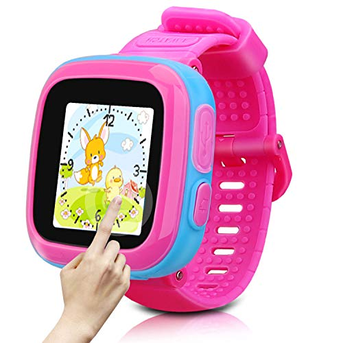 Watch for Kids Watch Kids Smart Watch for Kids Watch with Games Camera Alarm Timer Pedometer Wrist Watch for Kids Boys Girls Toys Birthday Festival Gifts Education Toys (Pink+Blue)