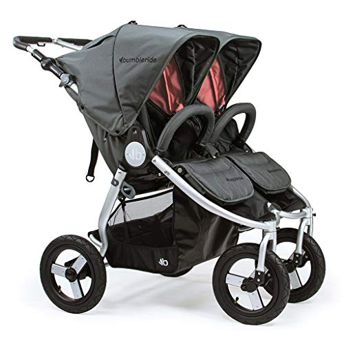 Bumbleride All-Terrain Indie Twin Infant Baby Stroller (Dawn Grey Coral)
