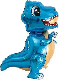 Colcolo 恐竜箔風船ヘリウム風船恐竜世界子供の誕生日パーティー - 青