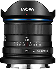 Laowa 9mm f/2.8 Zero-D. component for: SLR. Lens structure (elements / groups): 15/10. Lens type: Ultra-wide lens. Compatible camera brands: Sony. Product colour: Black. Diameter: 5cm. Filter size: 4.9 cm. Product length: 6 cm
