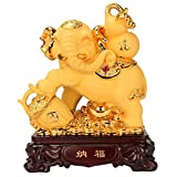 ZYYH Estatua de Feng Shui Feng Shui Dinero Elefante Estatuilla Riqueza Estatuilla de la Suerte Regalo y decoración del hogar Buda Decoración del hogar Regalo Prosperidad Escultura Decoración del