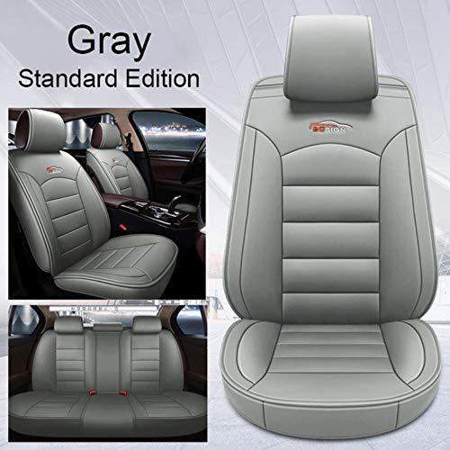 XIARI Universal Car Seat Covers Cushion Protector Accessories For Audi A3 A4 A6 A7 Q3 Q5 2020 2021 2019 2018-Gray