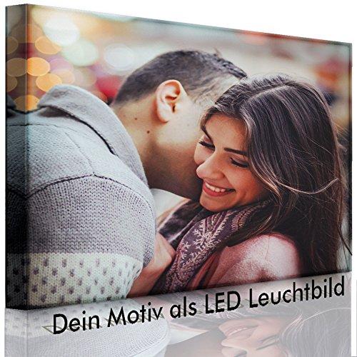 lightbox-multicolor.com LED Bild – Ihr eigenes Motiv – Foto als Leuchtbild – 60 x 40 cm – Front Lighted – Made IN Germany