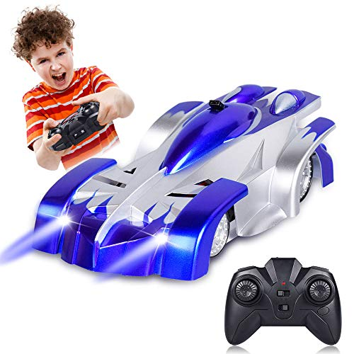 Remote Control Car, CPSYUB RC Car Toys for Boys Age 4, 5, 6, 7, 8, 9, 10, 11, 12 Girls, RC Car for Kids with Wall & Floor Mode, Wall Climbing Car with 360° Rotations, Best Boys Toys Car Gift (Blue)