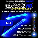 ROCKSTIX 2 HD BLUE, BRIGHT LED LIGHT UP DRUMSTICKS, with fade effect, Set your gig on fire! (BLUE ROCKSTIX)