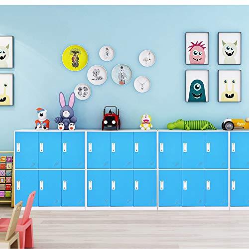 Steel Office Locker Cabinet with Keys, School and Home Storage Locker Organizer?Kids Locker for Cloth and Toy Organizer,Living Room Boy and Girl Metal Storage Locker Cabinet (Blue)