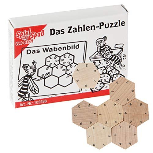 Bartl 102288 Mini-Holz-Puzzle Das Zahlen-Puzzle aus 7 kleinen Holzteilen