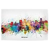 artboxONE Poster 90x60 cm Städte Vancouver Skyline