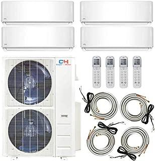 COOPER AND HUNTER Multi Zone Quad 4 Zone 9000 12000 12000 24000 Ductless Mini Split Air Conditioner Heat Pump Full Set WiFi Ready