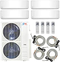 48,0000 BTU Quad 4 Zone 12000 12000 12000 12000 Ductless Heating and Cooling Mini Split Ductless Air Conditioner Heat Pump System