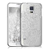 kwmobile Funda Compatible con Samsung Galaxy S5 / S5 Neo - Carcasa para móvil - Protector Trasero étnico Blanco/Transparente