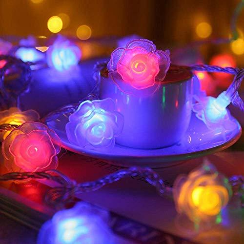 Dpliu-JJ String Light Luci Decorative Indoor/Outdoor Natalizia ha Condotto la Luce Rosa, Tipo di Batteria Sempre Bright Lights for la Festa di Compleanno di Natale casa di Cerimonia Nuziale Tabella
