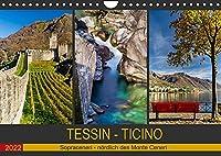 Tessin - Ticino (Wandkalender 2022 DIN A4 quer): Der noerdliche Teil des Tessins, der sogenannte Sopraceneri (Monatskalender, 14 Seiten )