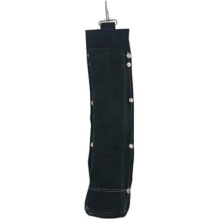 Flame-Resistant Electrode Bag/Welding Rod Pouch/welding rod holder/Leather Electrode Holder/ (black)