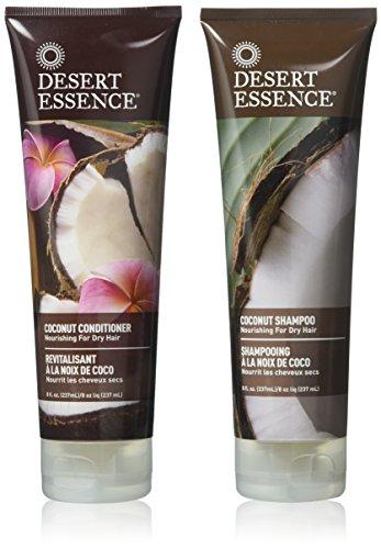 Desert Essence - Shampooing et Revitalisant à la noix de coco - Pack duo - 2 x 237mL